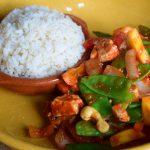Zoetzure wok met rijst