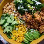 Eiwitrijke Oosterse 'kip'salade