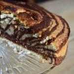Vegan zebra cake